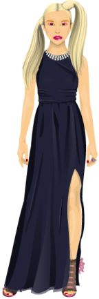 stardoll is a site for young girls to release their fashion sense :)