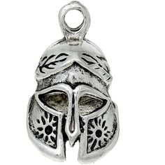 2 Silver Helmet Charms Fantasy Medieval Pendants 3-D Charms Fantastic... (3.17 NZD) ❤ liked on Polyvore featuring jewelry, pendants, cocktail jewelry, charm jewelry, pendant jewelry, silver jewelry and silver jewellery