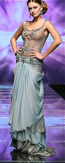 Amazing skirt draping - Mireille Dagher- belly dance outfit as evening gown!