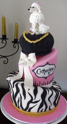 Poodle cake