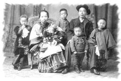 Chinese extended families lived together in the same home. Confucian tradition stated that the ideal situation was for five generations to live together under the same roof