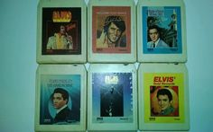 LOT OF 6 ELVIS PRESLEY 8-TRACK TAPES INCLUDING HIS HAND IN MINE SEE DESCRIPTION