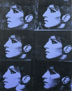 Deborah Kass, Six Blue Barbras (The Jewish Jackie Series), 1992. Deborah Kass examines the tensions among popular culture, fine art, and identity. In her Warhol Project (1992-2000), Kass appropriated Warhol's techniques, colors, and compositions. Six Blue Barbras retroactively introduces Barbra Streisand to the pantheon of female celebrities portrayed by Warhol in the early 1960s.