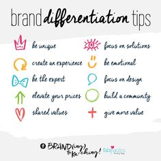 10 Ways to Differentiate Your Brand // by Fabi Paolini Branding Your Business, Business Advice, Personal Branding, Business Marketing, Online Business, Business Logos, Corporate Branding, Logo Branding, Brand Identity