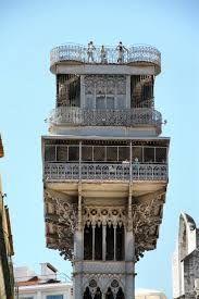 Elevador da Santa.Justa Lisbon - Szukaj w Google Gustave Eiffel, Big Ben, Tower, Building, Travel, Antique, Google, Lisbon, Elevator