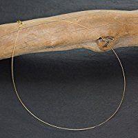 Biegsamer Hals-Reif, Gold, ein-reihig, jede Länge - Handarbeit