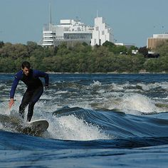 """Surfing """"Big Joe"""" in the St. Voyager Loin, Canada 150, Thousand Islands, St Lawrence, Learn To Surf, Vintage Surf, Of Montreal, Quebec City, The Province"""