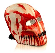 Airsoft mask: Bloody White