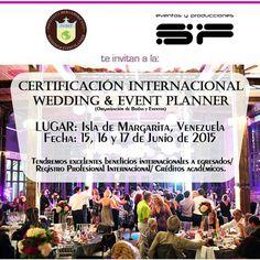 Diplomado Wedding & Event Planner Certificación Internacional Venezuela Isla Margarita www.inibep.com Créditos academicos sumatorios al master Wedding
