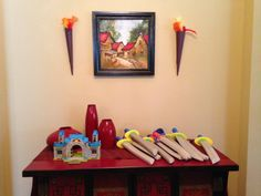 Boys medeival knight birthday party gifts and decorations--paper torches and swords Medieval Party, Knight Party, Old Boys, Party Gifts, Year Old, Wordpress Theme, Party Themes, Birthday Parties, Torches