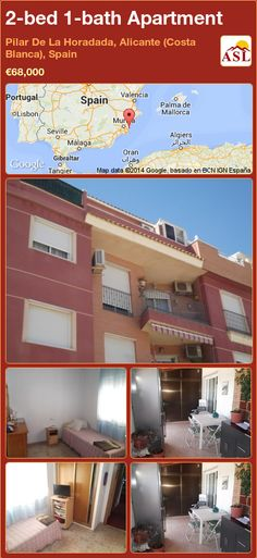 2-bed 1-bath Apartment in Pilar De La Horadada, Alicante (Costa Blanca), Spain ►€68,000 #PropertyForSaleInSpain