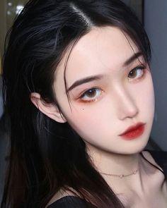 Edgy Makeup, Asian Makeup, Cute Makeup, Makeup Looks, Hair Makeup, Chinese Makeup, Korean Makeup Look, Korean Beauty Girls, Asian Beauty