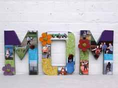 Mother's Day Handmade Gifts: MOM Letter Collage