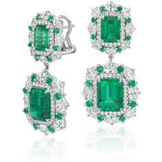Blue Nile ~ Emerald and Diamond Earrings