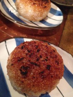 Grilling Onigiri Japanese rice ball tasted butterSoy sauce.Charcoal grilling  Chickenwine restrant at Shinmarunouchi build ,Tokyo  http://r.gnavi.co.jp/a634247/