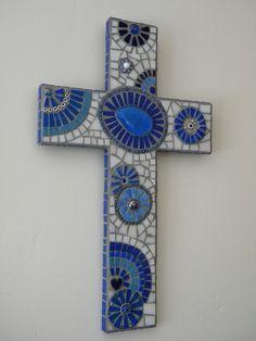 Stunning Aegean Mosaic Cross by TheMosartStudio on Etsy