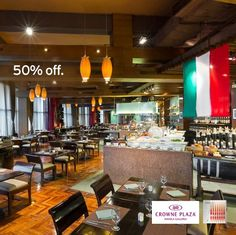 Enjoy 50% OFF on DAILY LUNCH BUFFET at SEVEN CORNERS at Crowne Plaza Manila Galleria with your CITI CARD!  Promo valid until FEBRUARY 12, 2016.  http://mypromo.com.ph/