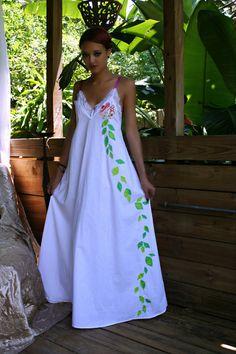 Lingerie de mariée princesse fleur coton Chemise de nuit à la