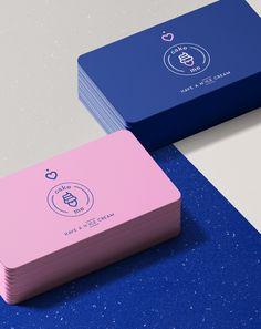 Cake Me - Nitrogen Ice Cream on Behance Cake Logo Design, Graphic Design Branding, Graphic Design Posters, Identity Design, Packaging Design Inspiration, Graphic Design Inspiration, Bussiness Card, 2 Logo, Bakery Logo