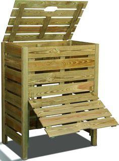 Composteur avec couvercle et trappe ©Burger.fr