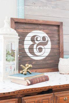 Simple Wood Sign - http://akadesign.ca/simple-wood-sign/