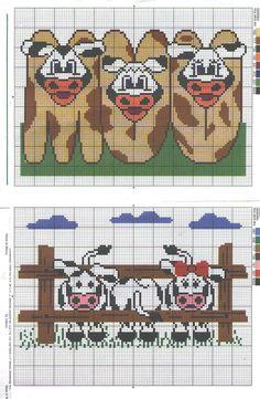 Cows cross stitch.