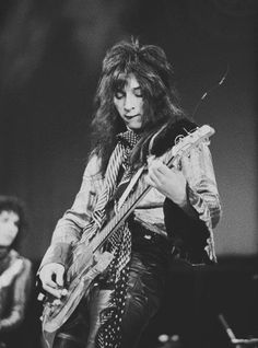 Johnny Thunders when The New York Dolls opened up for The Faces at Wembley 1972