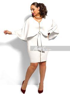 """London"" Cape Dress -Ivory"