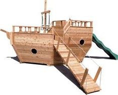 Wooden Playground Equipment - Small Boat