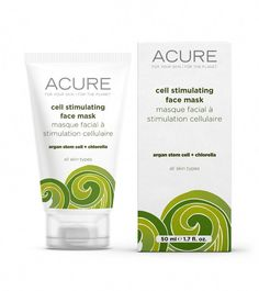 Acure Organics Cell Stimulating Facial Mask - 1.75 Oz #ClayFaceMask Planet Cell, Acure Organics, Acne Dark Spots, Diy Moisturizer, Clay Face Mask, Stem Cells, Facial Masks, Skin Care Tips, Face Masks