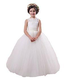 8e9e23473d EnjoyBuys Baby Princess Flower Girl Dresses Ball Gown Gir... http