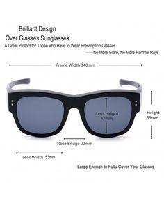 30614e47ff Oversized Fits Over Sunglasses Mirrored Polarized Lens for Women and Men -  Black Frame Black Lens - CB182IGSD3U