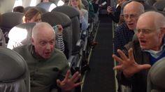 Barbershop quartet serenades passengers during flight delayed 5 hours