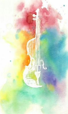 Pastel guitar