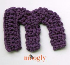 Free Patterns: the Moogly Lowercase Alphabet! Crochet Letters Pattern, Crochet Alphabet, Letter Patterns, Crochet Patterns, Moogly Crochet, Crochet Stitches, Crochet Hooks, Free Crochet, Knit Crochet
