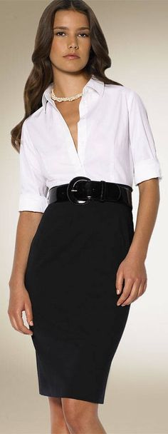 how to wear a white blouse with a skirt