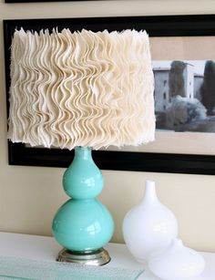 Super cute DIY Anthropologie lampshade @Justa Girl
