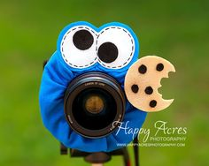 Lens Bling  Cookie Monster  Ready to Ship by HappyAcresFarm, $21.00