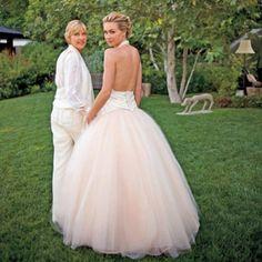Ellen DeGeneres and Portia de Rossi wore Zac Posen at their wedding.