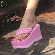 03ba2e39c SHIDIWEIKE Big Bowtie Woman Beach Flip Flops Summer Sandals Slip- Resistant  Slippers Platform Sandals Size 34-39 B768