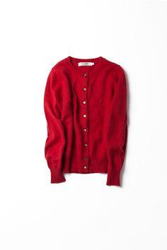Kyoko Kikuchi's Closet   60'sムードが小粋な赤ニットカーディガン