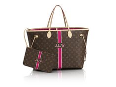 67846592b2 Neverfull GM Mon Monogram - Monogram Canvas - with personalization. colors   bordeaux and ivorire
