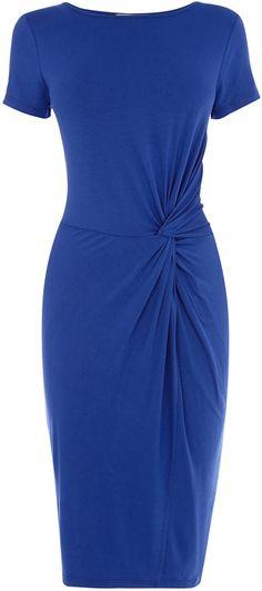 Oasis Short Sleeve Twist Dress