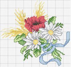 Schema punto croce Fiori estate