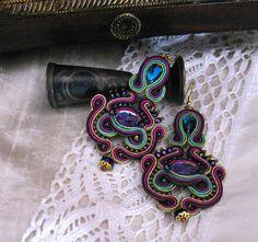 Orecchini soutache gioielli soutache in di SOUTACHEANDOLDLACE