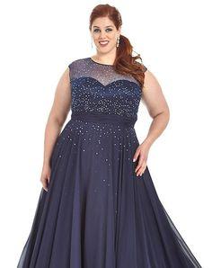 Sydney's Closet Tease Prom #SC7170 Navy Prom Dress sz 24