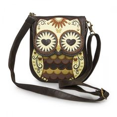 Mini Brown Owl W/Heart Eyes Crossbody Bag - Loungefly - Brands