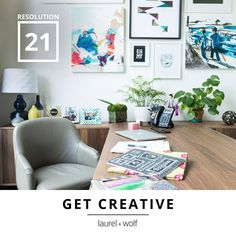 Let your home be a blank canvas and get your artistic juices flowing. Let one of our designers help channel your creativity and craft the perfect space. #31Resolutions #GetYourDesignOn
