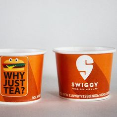 #paper #cup #brandname #advertising  #promote #promotion #disposable #Swiggy #eating #app