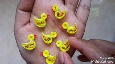 How to make a quilling birds
